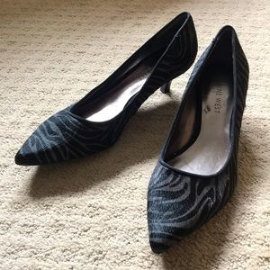 Nine West Zebra Print Kitten Heels